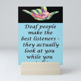 Best Listeners Mini Art Print