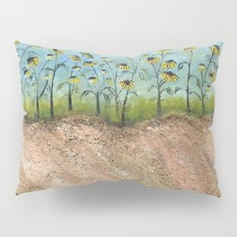 African American Masterpiece 'Sunflowers on the Graves' by Irene Clark Pillow Sham