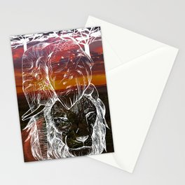 In The Wild Sunset Stationery Cards