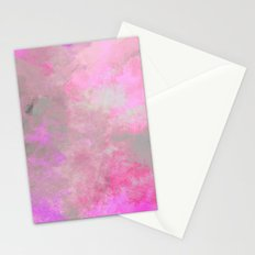 Pink Grey Watercolor Stationery Cards