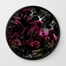 Crape Myrtle Letters 1 Wall Clock