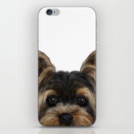 Yorkshire Terrier Mix colorDog illustration original painting print iPhone Skin