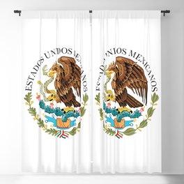 Flag of Mexico - alt version with seal insert Blackout Curtain