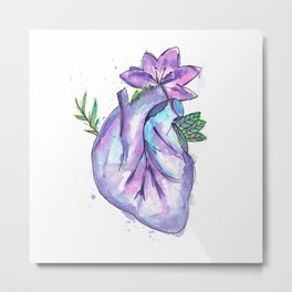 Purple heart Metal Print