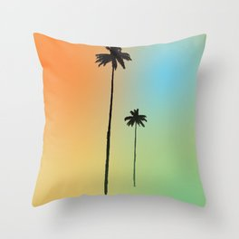 Dos Palmas Throw Pillow