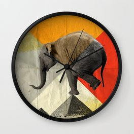 Balance of the pyramids Wall Clock