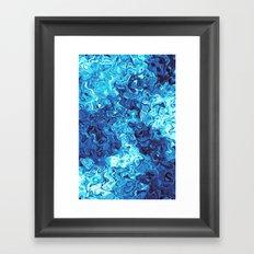 Blue Glass Framed Art Print