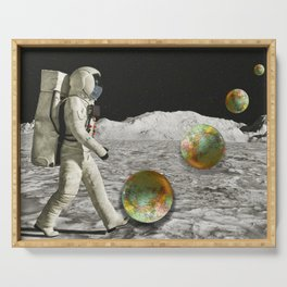 Moon Shot #collage Serving Tray