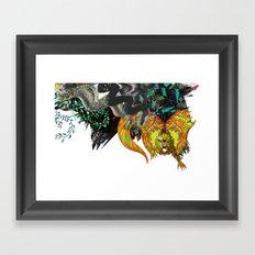 Approaching Storm - detail 001 Framed Art Print