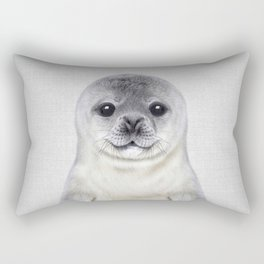 Baby Seal - Colorful Rectangular Pillow