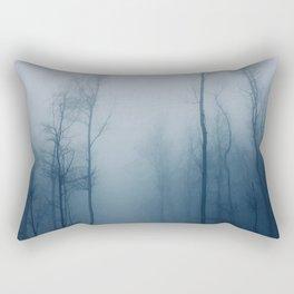 blue trees vectorized photo Rectangular Pillow