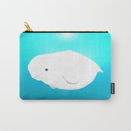 Fat Beluga Whale Carry-All Pouch