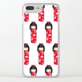 Kokeshi Doll Clear iPhone Case