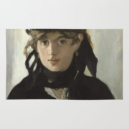 Edouard Manet - Young woman in a black hat Rug