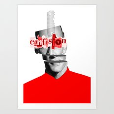 Confusion in my mind, blind meets the blind Art Print