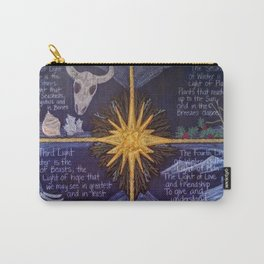 The Four Lights of Winter Carry-All Pouch