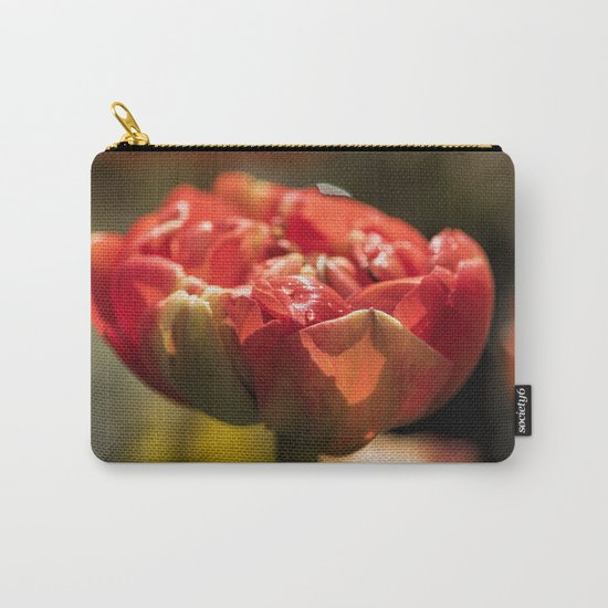Fire Red tulips at Backlight Carry-All Pouch