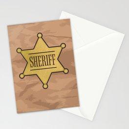 Wild West Sheriff's Badge Stationery Cards