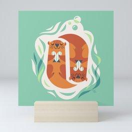 Otterly Adorable Mini Art Print