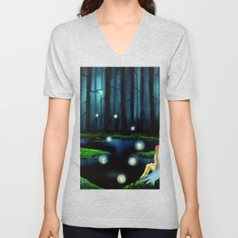 Peace in perfect places Unisex V-Neck