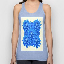 Decorative  Opulent Baby Blue Dahlia Flowers Art Work Design Unisex Tank Top