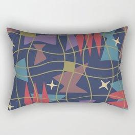 Mid Century Modern Abstract Pattern 582 Rectangular Pillow