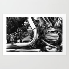 Chrome Heart Art Print