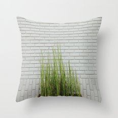 Green on White Throw Pillow