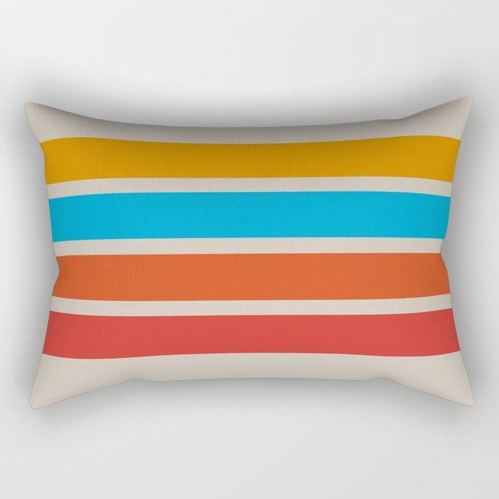 Retro Stripes Rectangular Pillow