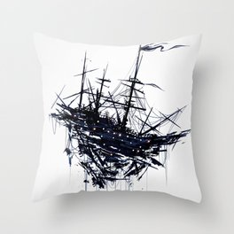 Shattered Ship Throw Pillow