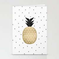 pineapple Stationery Cards featuring Pineapple by Elisabeth Fredriksson
