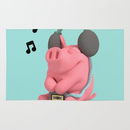 Rosa the Pig WalkMan Rug