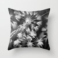 coconut wishes Throw Pillows featuring Wishes  by A Wandering Soul