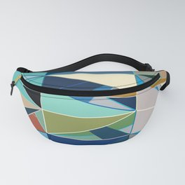 Mid-Century Modern Abstract, Turquoise and Neutrals Fanny Pack