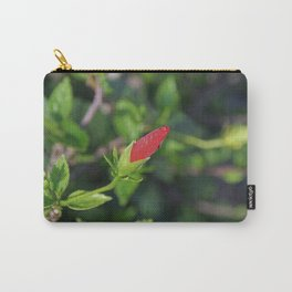 Budding Hibiscus Carry-All Pouch