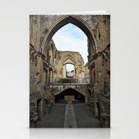 downton abbey Stationery Cards featuring Glastonbury Abbey by Artemio Studio