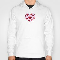hearts Hoodies featuring Hearts by Marjolein