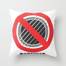 No Picking Throw Pillow