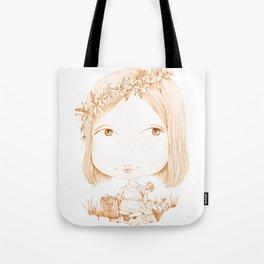 Monochrome Love: Orange Tote Bag