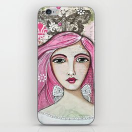 Believe in Your Own Magic Mixed Media Fairy Girl iPhone Skin