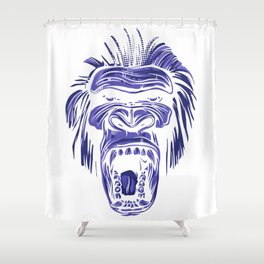 GORILLA KING KONG - Blue Shower Curtain
