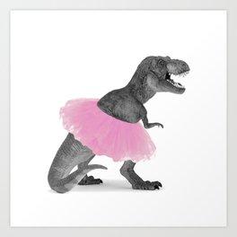 DINO DANCER Art Print