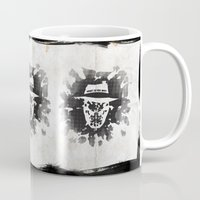 watchmen Mugs featuring Rorschach by Vickn