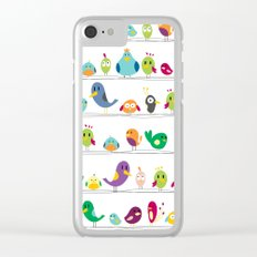 the birds are sitting and gazing... Clear iPhone Case