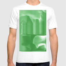 green Mens Fitted Tee White MEDIUM