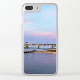 Pastel sunset at Yorktown Beach Clear iPhone Case