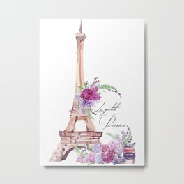Eiffel Tower Vintage Paris France Metal Print