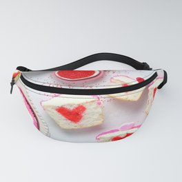 Pink Heart Cupcakes Fanny Pack