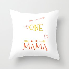 One Thank Mama Happy Thanksgiving Day Throw Pillow