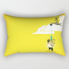 "Glue Network Print Series ""Water / Hygiene / Sanitation"" Rectangular Pillow"
